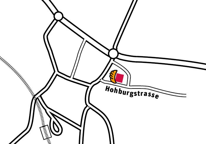 Bäckerei Fahrni Belp Lageplan